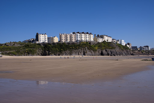 Sea by Tenby in Wales