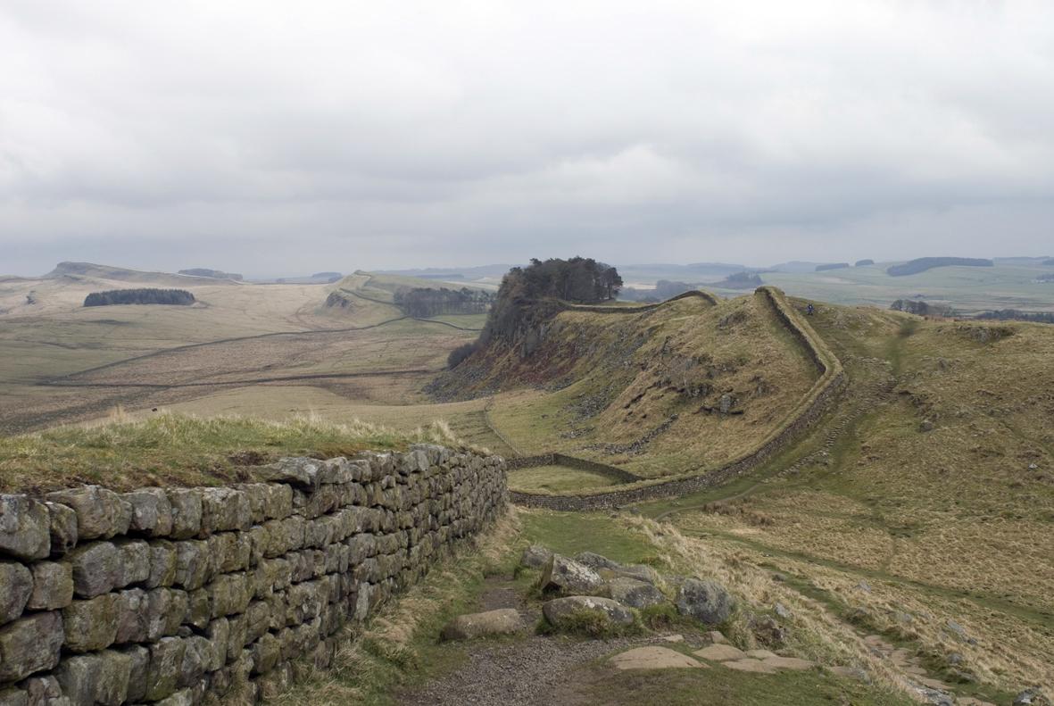 Hadrian Wall in Northumberland