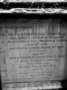 John Constable Grave in Hampstead