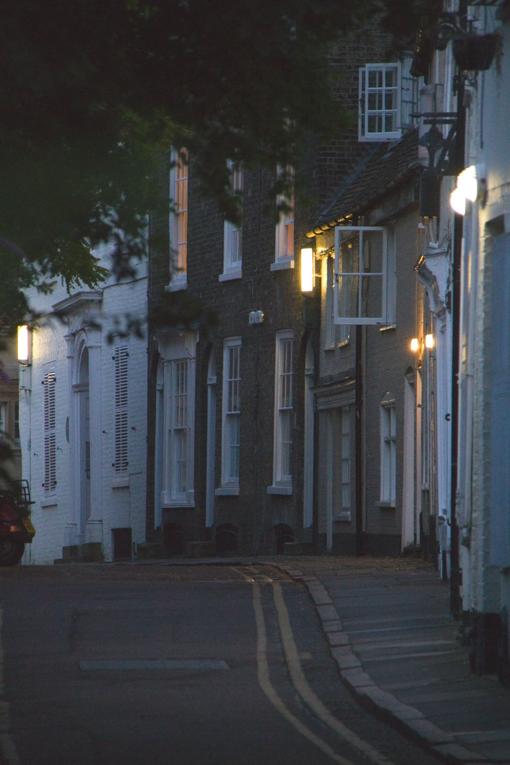 Cambridge Gasse Nachts