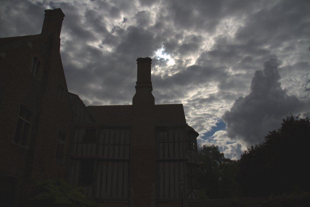 Cambridge Gebäude Schattenriss
