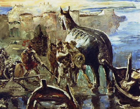 Lovis Corinth - Tojanisches Pferd