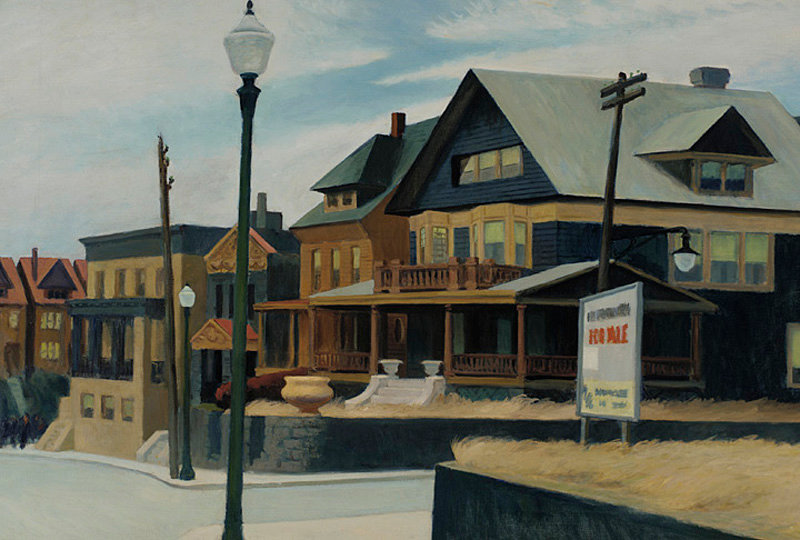 """Edward Hopper - East Wind over Weehawken"""