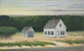 Edward Hopper's October on Cape Cod oil
