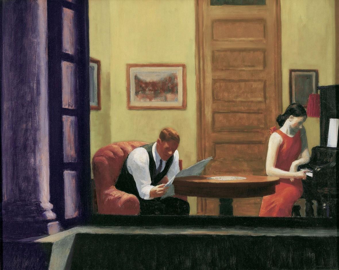 Edward Hopper-Room in New York