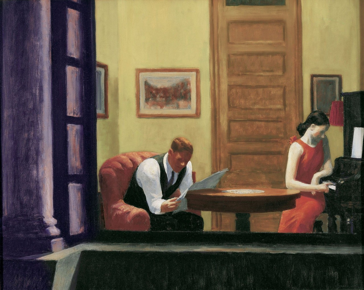 """""""Edward Hopper-Room in New York"""""""
