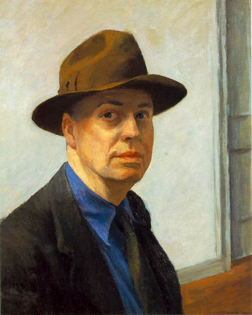 """Edward Hopper - Self Portrait"""