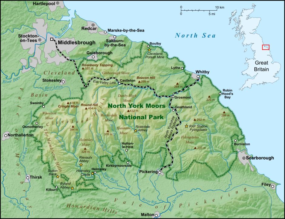 Yorkshire - Rievaulx - Whitby