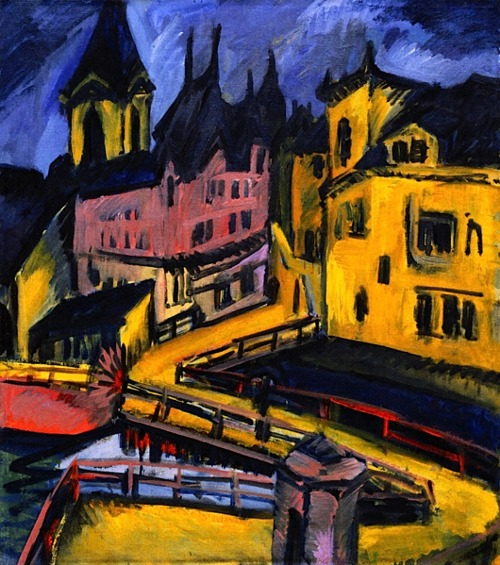 ERICH HECKEL Bridge by the City Gate, Chemnitz (1910)