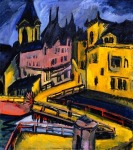 ERICH HECKEL Bridge by the City Gate, Cheminitz (1910)
