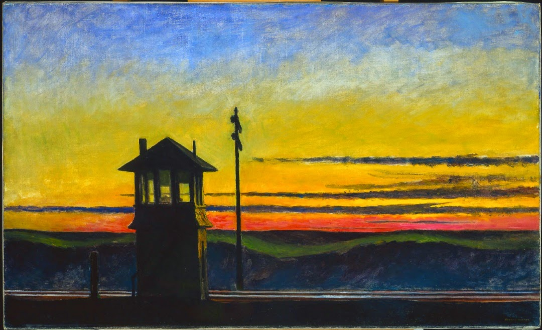 Edward Hopper - Railroad Sunset