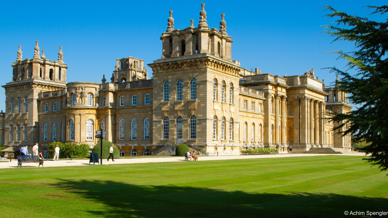 Winston Churchill und Blenheim Palace